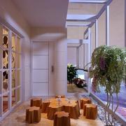 100平两层小别墅宜家风格阳台装修效果图