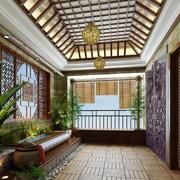 古典优雅别墅入户花园装修效果图