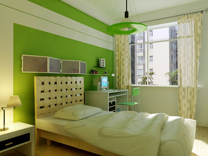 自然绿色小户型儿童房装修设计效果图
