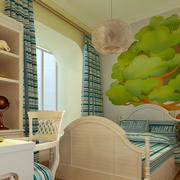 简欧式清纯儿童房装修设计效果图