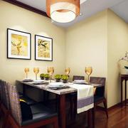 复式楼现代简约风格原木餐厅装修效果图