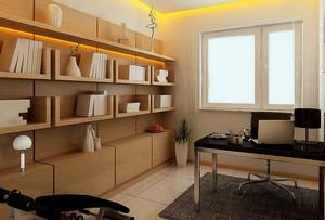大户型简朴风格书房设计装修效果图
