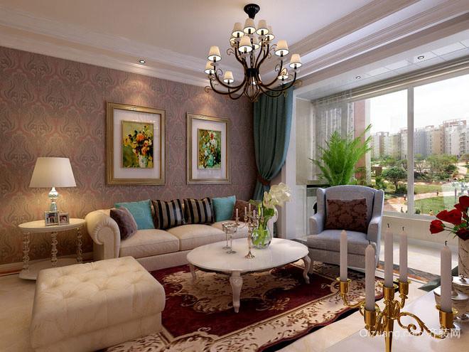 两室一厅欧式精致客厅装修效果图