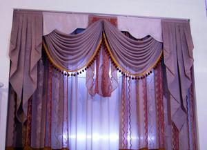 复式楼时尚风格飘窗窗帘效果图