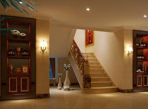 三居室自然风格楼梯设计装修效果图