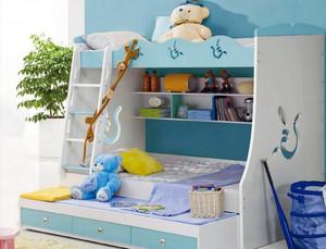 精美大户型欧式儿童房高低床装修效果图