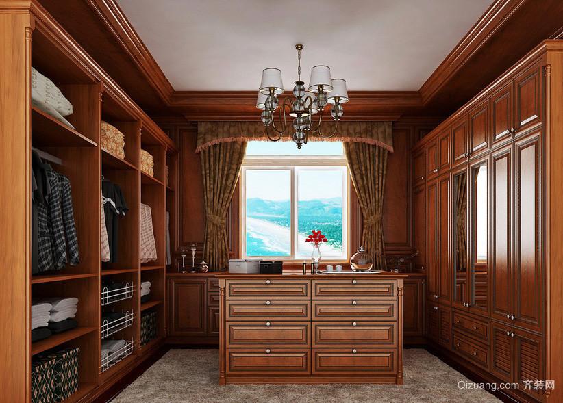 别墅美式气派整体衣帽间设计效果图
