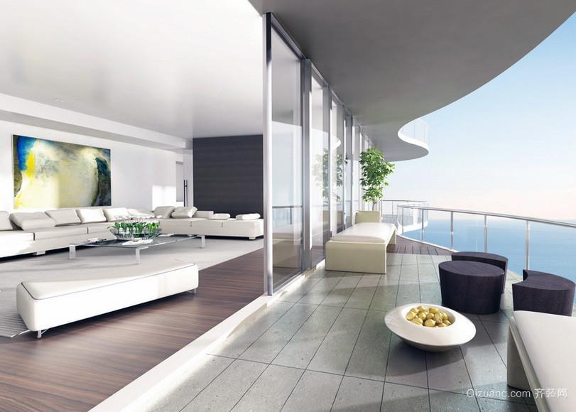 现代大户型整体阳台装修效果图
