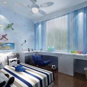 讨人喜欢的浅蓝色儿童房装修设计效果图
