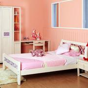 粉色简约现代儿童房装修设计效果图