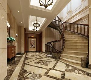 120平米现代风格楼梯设计装修效果图