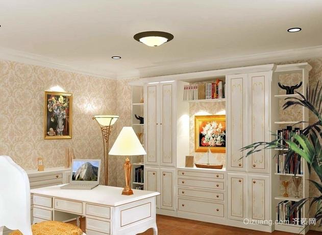 20平米深色调书房设计装修效果图