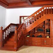 单身公寓实木楼梯设计装修效果图