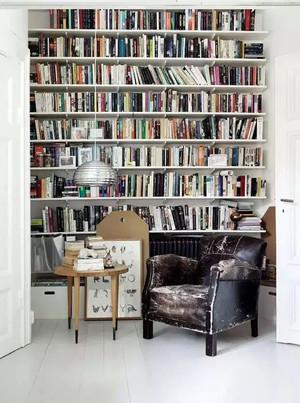 小户型北欧风格整体式大型原木书柜装饰