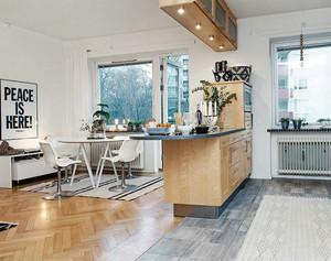 简洁北欧式单身小公寓装修效果图
