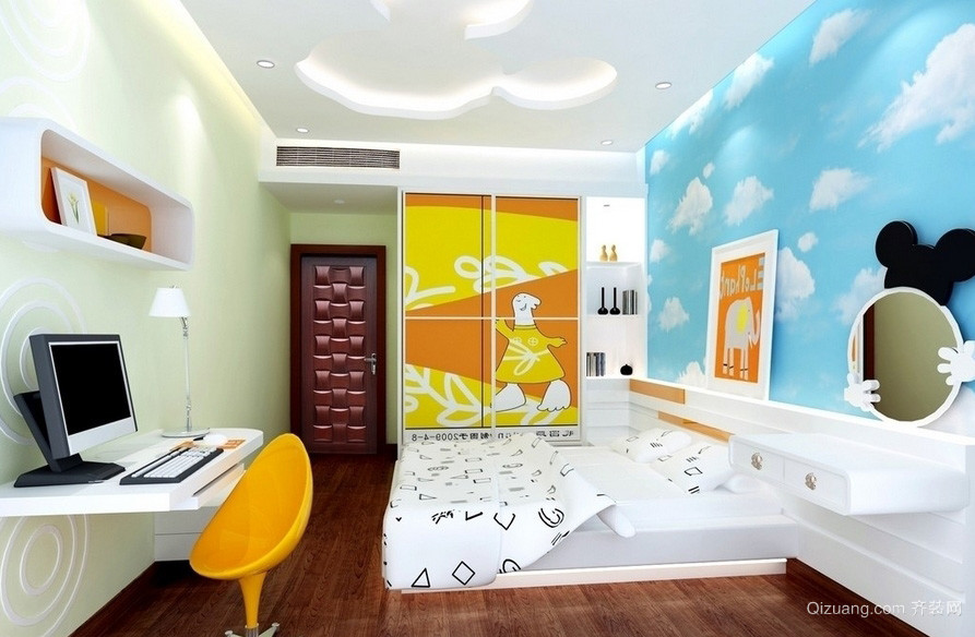 都市简约大户型儿童房装修设计效果图