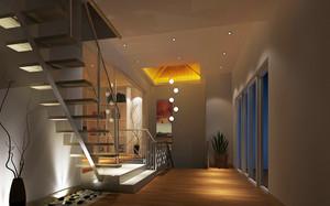 单身公寓创意型楼梯设计装修效果图