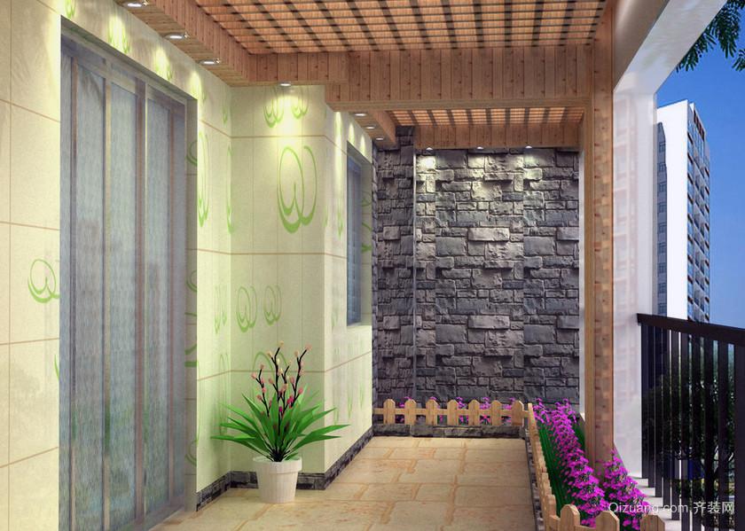 100平米超大户型地中海客厅入户花园装修效果图