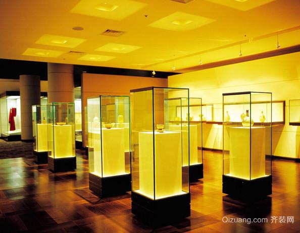 大型简约风格博物馆展柜装修效果图