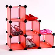 红色精致鞋架展示