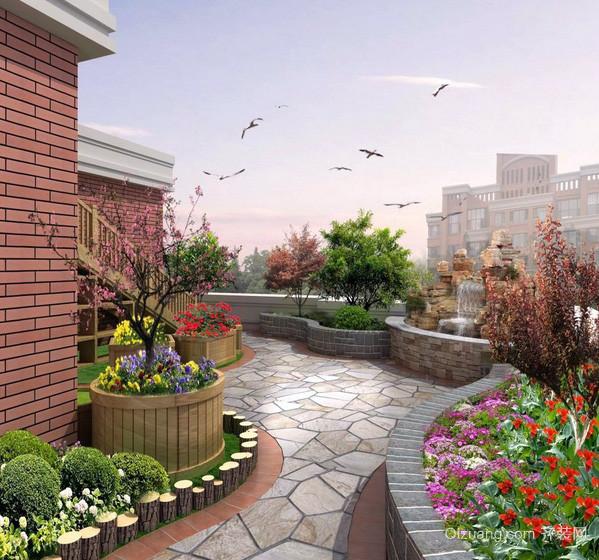复式楼屋顶花园设计装修效果图