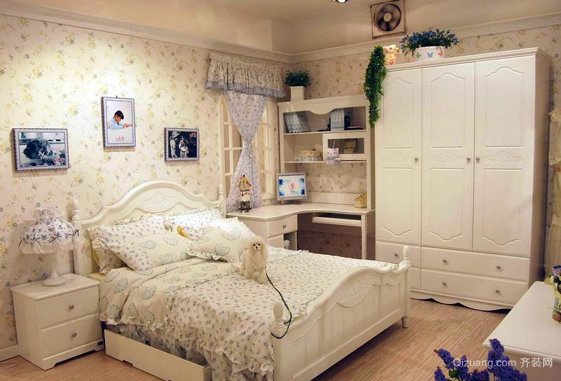 田园风格女孩卧室装修效果图
