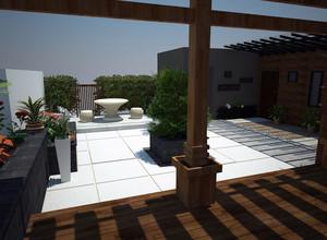 别墅屋顶花园设计装修效果图