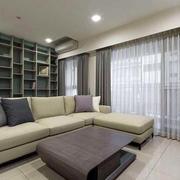 90平米房屋客厅飘窗装饰效果图