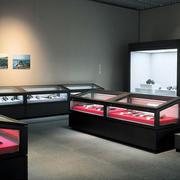 后现代风格大型博物馆古物器皿展柜效果图