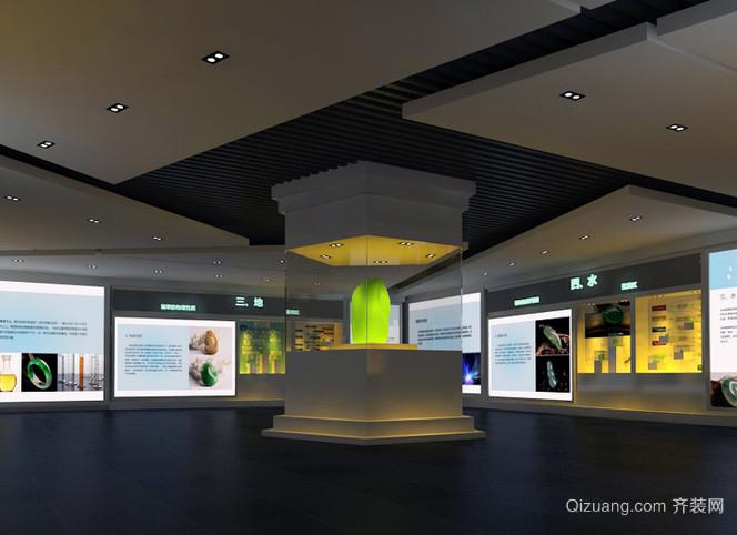现代化时尚风格博物馆吊顶装修效果图