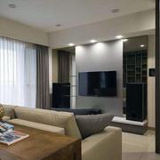 90平米房屋客厅电视背景墙装饰