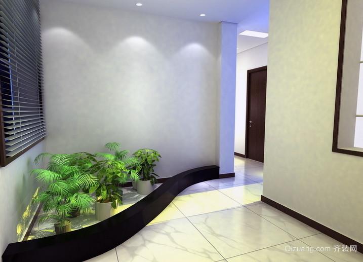 简欧客厅80㎡小户型入户花园装修效果图