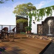 宜家大户型家居屋顶花园设计效果图