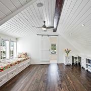 120平米田园风格斜顶阁楼装修效果图
