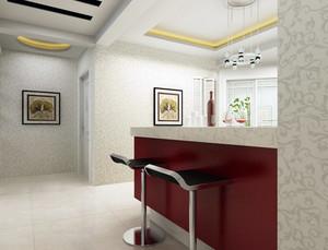 别墅自然风格吧台设计装修效果图