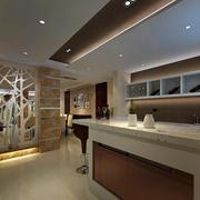 122平米精致型吧台设计装修效果图