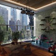 2016宜家新型70平米小户型入户花园装修效果图