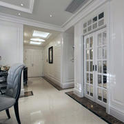 清新婉约68平米新古典小户型家装过道吊顶效果图
