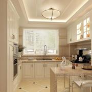 现代厨房简约吧台装修设计效果图