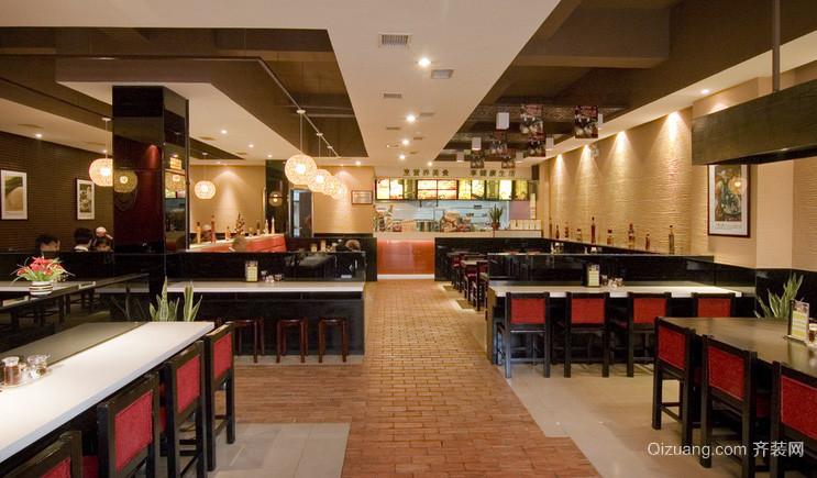 2015现代风格快餐店设计装修效果图