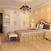 清新型复式楼卧室装修效果图