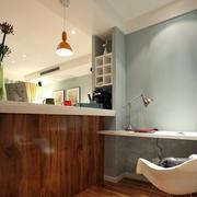 两室一厅美式简约客厅吧台装修效果图