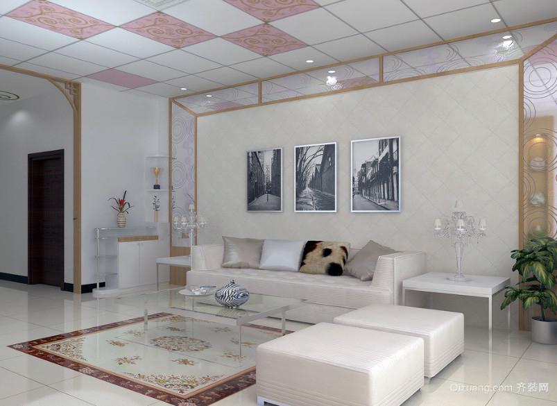 大户型欧式室内沙发背景墙装修效果图