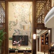 中式风格复式楼简约客厅装修效果图