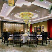 唯美的餐厅整体设计