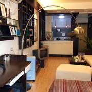 单身公寓后现代风格客厅装饰