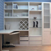 现代室内大户型书柜装修效果图