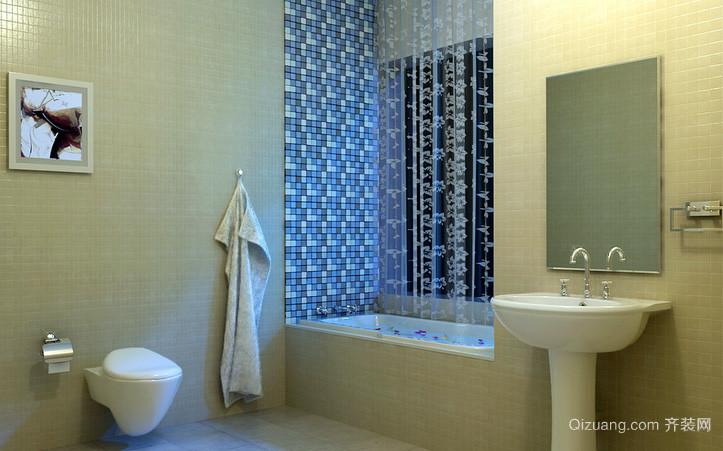 自然风格复式楼卫生间装修效果图