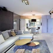 单身公寓简约风格电视背景墙装饰