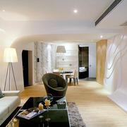 现代简约风格单身公寓客厅沙发装饰